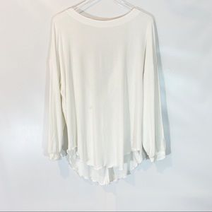FREE PEOPLE IVORY SHIMMY SHAKE TOP SIZE S